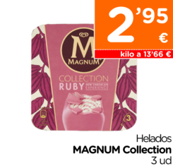 Helado ruby MAGNUM Collection 3x72 g