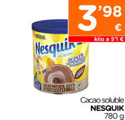 Cacao soluble NESQUIK 780 g